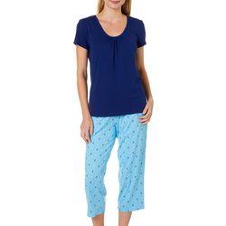 Nautica Womens 2-pc. Anchor Print Pajama Capris Set