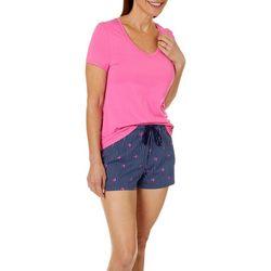 Nautica Womens 2-pc. Crab Stripe Pajama Shorts Set