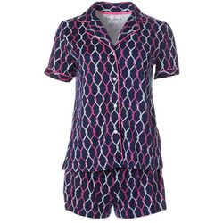 Nautica Womens 2-pc. Knotted Rope Pajama Shorts Set