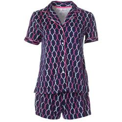 Womens 2-pc. Knotted Rope Pajama Shorts Set