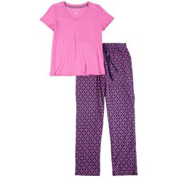 Nautica Womens 2-pc. Anchor Print Pajama Set