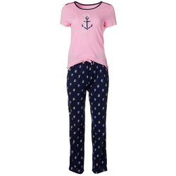 Nautica Womens 2-pc. Anchor Print Pajama Pants Set