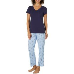 Nautica Womens Anchor Print Pajama Set