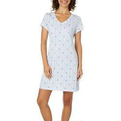 Nautica Womens Lobster T-Shirt Nightgown