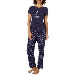 Nautica Womens Sail Free Flamingo Pajama Pants Set