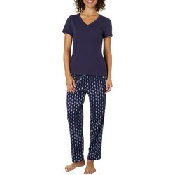 Nautica Womens Seahorse Print Pajama Set