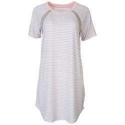 Nautica Womens Heather Stripe Short Sleeve Nightgown