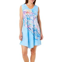 Amber Moran Womens Swim With Me Strappy Back Nightgown
