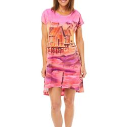 Ellen Negley Womens Dusk Pier Nightgown