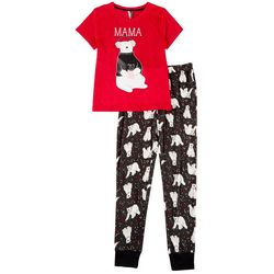 Jaclyn Intimates Womens Momma Bear Fam Jam Pajama Set