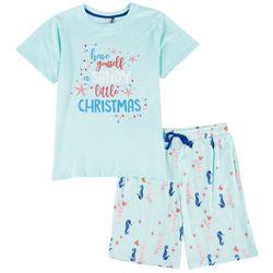 Jaclyn Intimates Mens Sandy Christmas Pajama Set