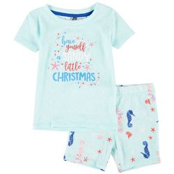 Jaclyn Intimates Toddlers Sandy Christmas Pajama Set