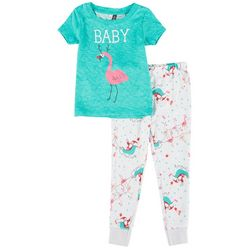 Jaclyn Intimates Toddlers Flamingo Family Pajama Set