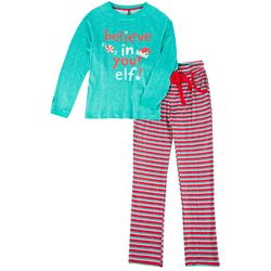 Jaclyn Intimates Womens Believe In Your Elf Pajama Set