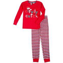 Jaclyn Intimates Childrens Elfully Cute Pajama Set