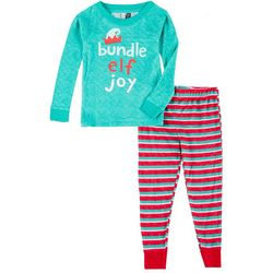 Jaclyn Intimates Toddlers Bundle Of Elf Joy Pajama Set