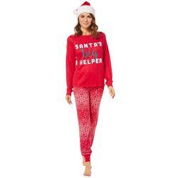 Jaclyn Intimates Womens Santa's Helper Pajama Set