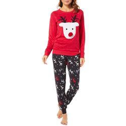 Jaclyn Intimates Womens Reindeer Pajama Set