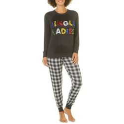 Jaclyn Intimates Womens Jingle Ladies Plaid Pajama Pants Set