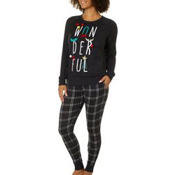 Jaclyn Intimates Womens Wonderful Plaid Pajama Set