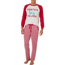 Jaclyn Intimates Mens Santa's Big Helper Pajama Set