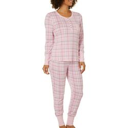 Jaclyn Intimates Womens Tribeca Plaid Pajama Set