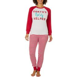 Jaclyn Intimates Womens Santa's Helper Pajama Set
