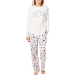Jaclyn Intimates Womens Joy Print Pajama Pants Set