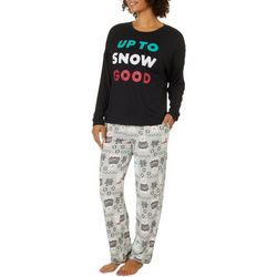 Jaclyn Intimates Womens Up To Snow Good Pajama Pants Set