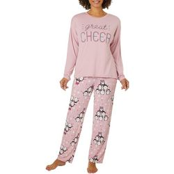 Jaclyn Intimates Womens Great Cheer Pajama Pants Set