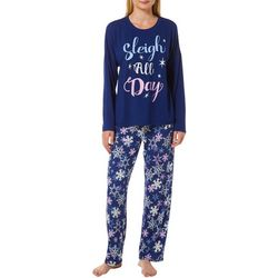 Jaclyn Intimates Womens Sleigh All Day Pajama Pants Set
