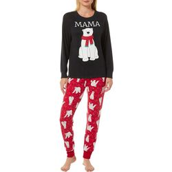 Jaclyn Intimates Womens Momma Bear Pajama Set