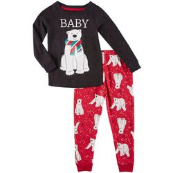 Jaclyn Intimates Toddlers Whisper Soft Baby Bear  Pajama Set