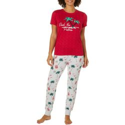 Jaclyn Intimates Womens Deck The Palms Pajama Set