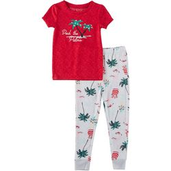 Jaclyn Intimates Childrens Deck The Palms Pajama Set
