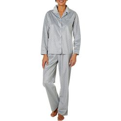 Bay Studio Womens Dot Print Sueded Fleece Pajama