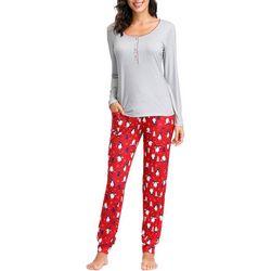 Ink + Ivy Womens Xmas Jogger Pajama Pants Set