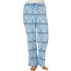Goodnight Kiss Womens Fairisle Fox Pajama Pants