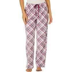 Goodnight Kiss Womens Plaid Pajama Pants