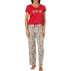 Coral Bay Womens Holiday Dogs Pajama Set