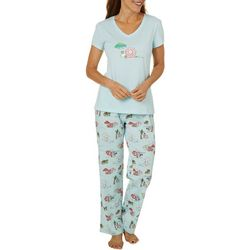 Coral Bay Womens Christmas Beach Pajama  Set