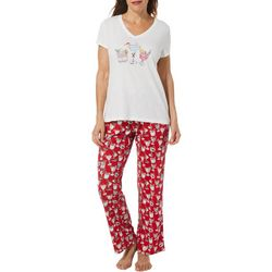 Coral Bay Womens Holiday Cocktail Pajama Set
