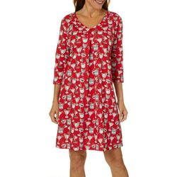 Coral Bay Womens Holiday Cocktail Nightgown