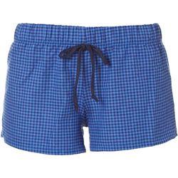 Cozy Rozy Love Womens Small Check Flannel Pajama Shorts