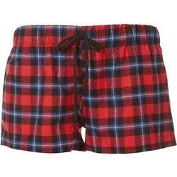 Cozy Rozy Love Womens Tartan Plaid Pajama Shorts
