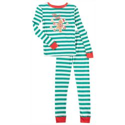 Pajamarama Little Boys Gingerbread Stripe Pajama Set