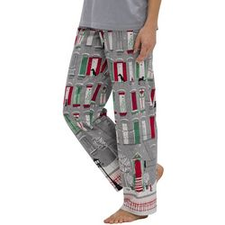 Womens Exercise Holiday Town Long Pajama Pants