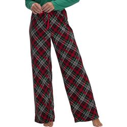 Womens Plaid Print Long Pajama Pants