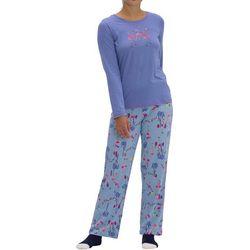 Hue Womens Frosty Flamingo Pajama Set