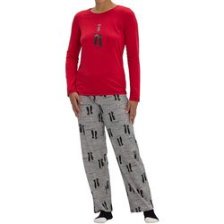 Womens Kiss Me Cat Pajama Set